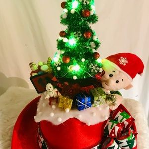 Christmas hat with lights